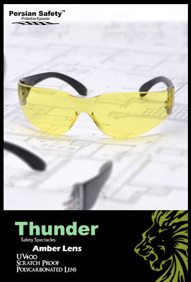 Thunder |Safety|Spectacles|UV400|Clear|Persian Safety|Glasses|عینک ایمنی|تندر| پلی کربنات|ضدضربه|شفاف|پرشین سیفتی