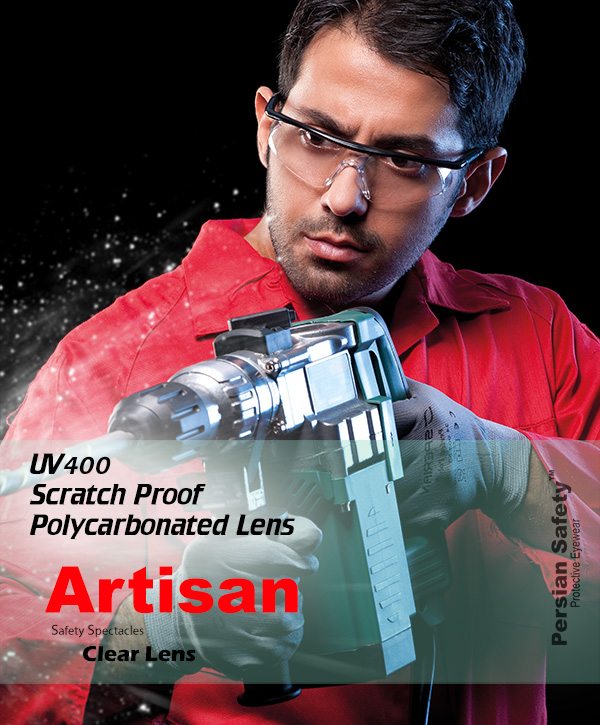 Artisan , Extendable , Temple , Functions , Safety , Spectacles , UV400 , Clear , Persian Safety , Glasses , قابل تنظیم , عینک ایمنی , صنعتگر ,  پلی کربنات , ضدضربه , شفاف , ریگلاژی , دسته , پرشین سیفتی , قیمت عینک ایمنی مدل صنعتگر شفاف , نمایندگی عینک ایمنی مدل صنعتگر شفاف , نمایندگی پرشین , دفتر فروش عینک ایمنی مدل صنعتگر شفاف , کارخانه پرشین ,  کارخانه عینک ایمنی مدل صنعتگر شفاف ,  تولید کننده عینک ایمنی مدل صنعتگر شفاف , نمایندگی فروش عینک ایمنی مدل صنعتگر شفاف , دفتر پخش عینک ایمنی مدل صنعتگر شفاف , پخش کننده عینک ایمنی مدل صنعتگر شفاف , توزیع کننده عینک ایمنی مدل صنعتگر شفاف , محل فروش عینک ایمنی مدل صنعتگر شفاف , خرید عینک ایمنی مدل صنعتگر شفاف  ,